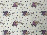 Cotton Jersey Fabric Material UV Colour Changing Light Sun Reactive Little Girl